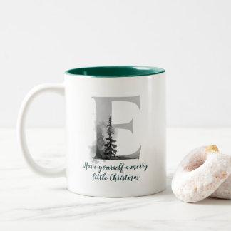 Christmas Letter E Alphabet Coffee Mug