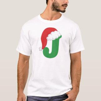 Christmas Letter J Alphabet T-Shirt