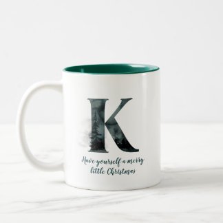 Christmas Letter K Alphabet Coffee Mug