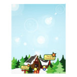 Christmas Letter Paper - North Pole Design Personalized Letterhead