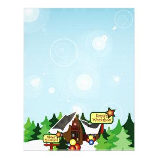 Christmas Letter Paper - North Pole Design Personalized Letterhead
