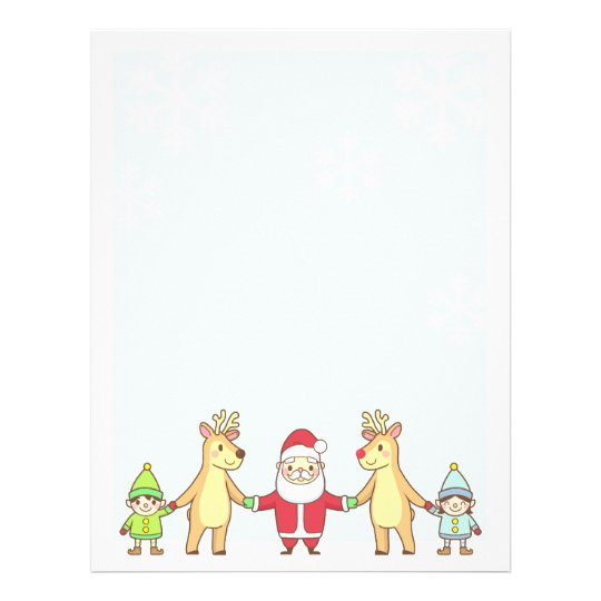 Christmas Letter Paper - Santa and Friends