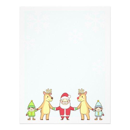 Christmas Letter Paper - Santa and Friends Custom Letterhead