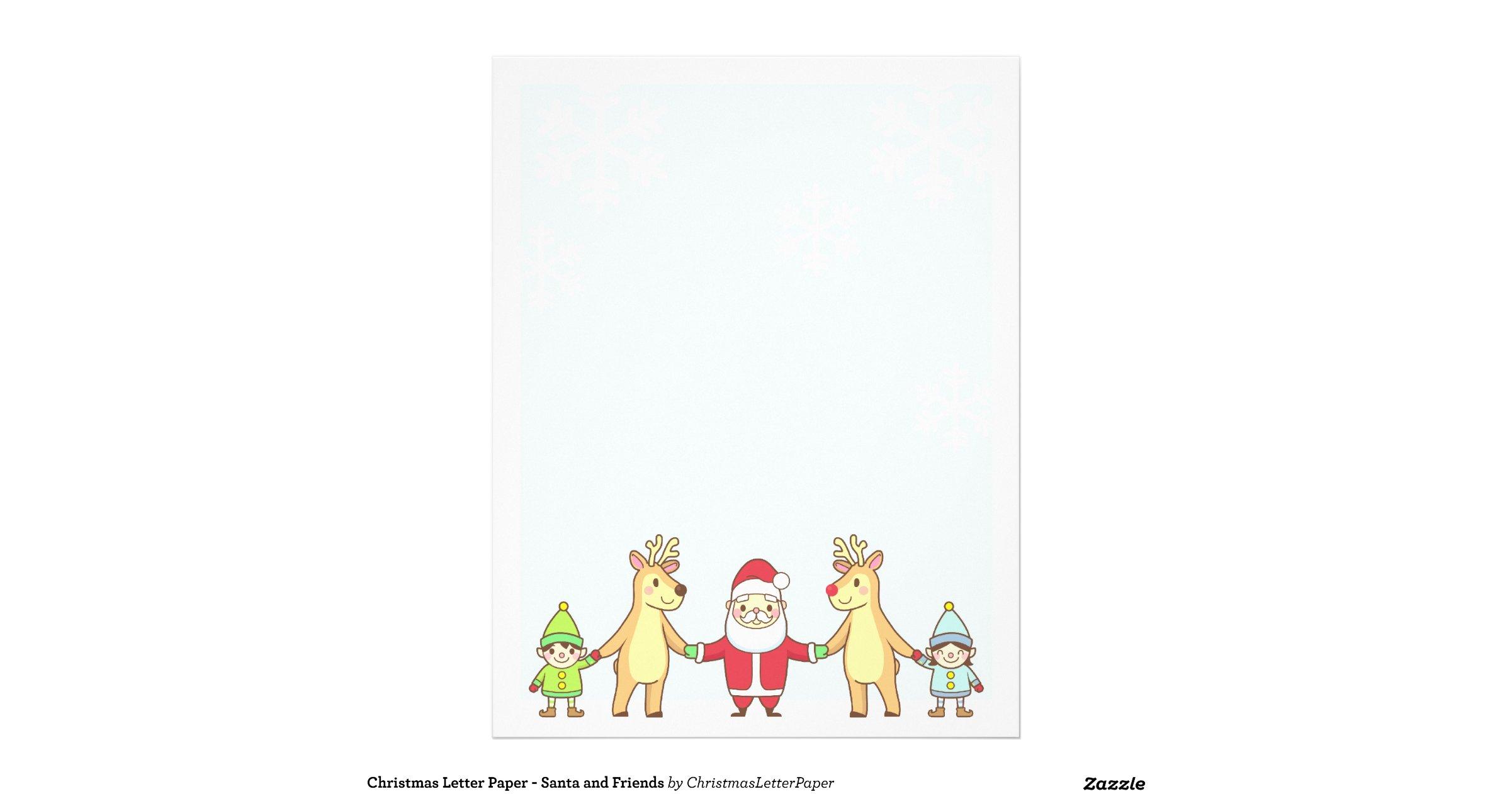Christmas Letter Paper Template Christmas Letter Paper Santa