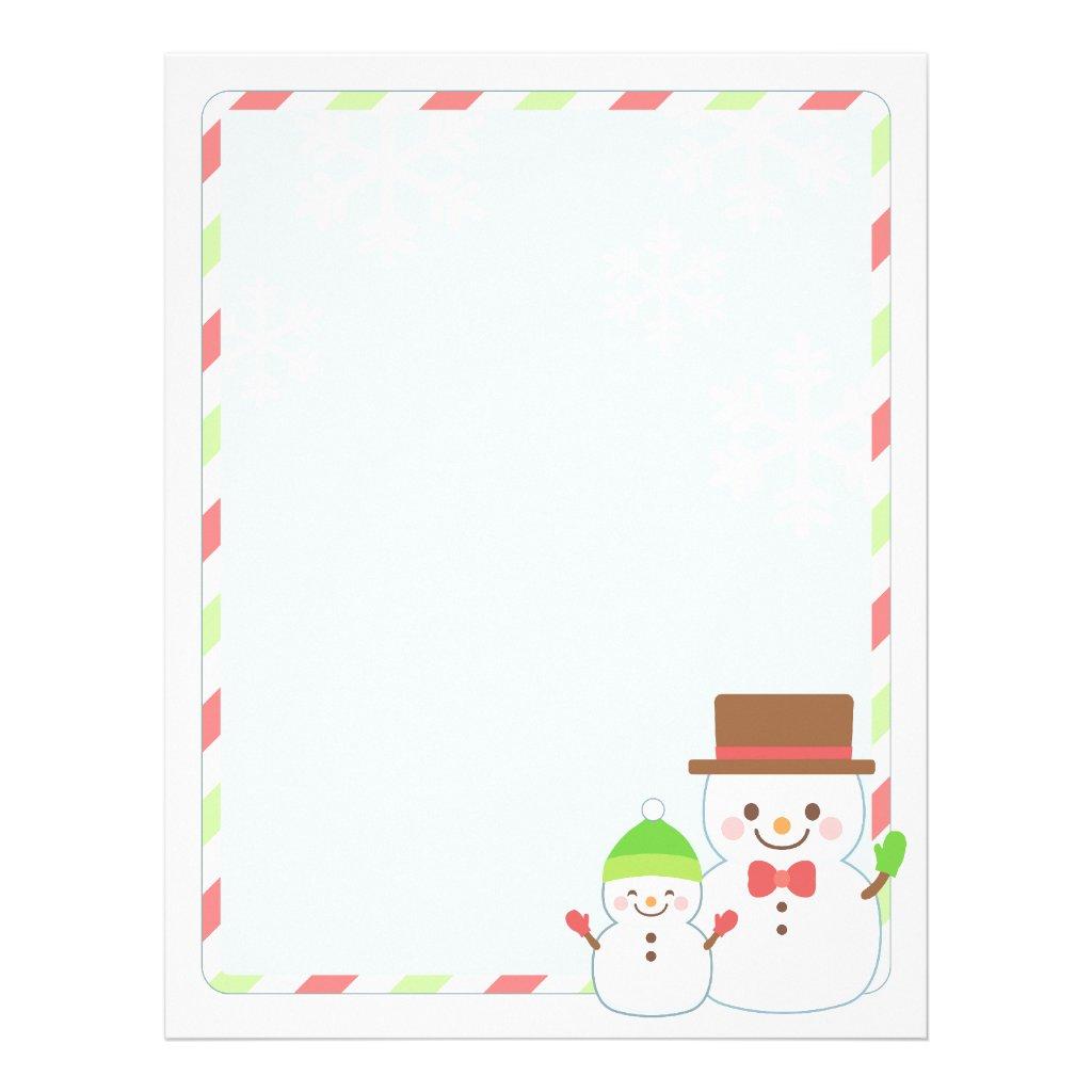 Christmas Letter Paper Template Christmas Letter Paper