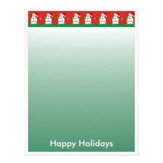 Christmas Letter Paper - Snowman Border