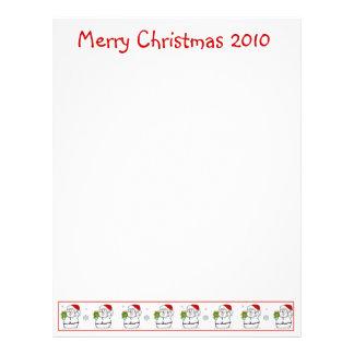 Christmas Letter Paper: Snowman Merry Christmas Letterhead