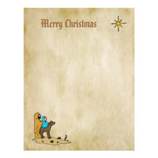 Christmas Letter Paper - Star of Bethlehem Letterhead Template
