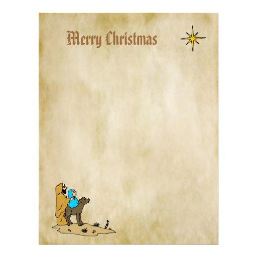 ... Letter Paper - Star of Bethlehem Letterhead Template | Zazzle