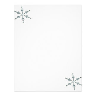 Christmas Letter Paper - Two Snowflakes Customized Letterhead