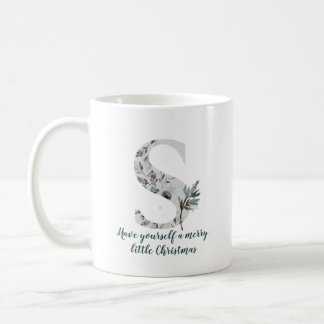 Christmas Letter S Alphabet Coffee Mug