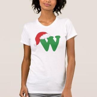 Christmas Letter W Alphabet T-Shirt