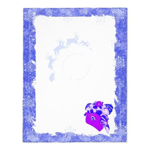Christmas Letterhead Blue