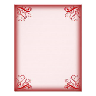 Christmas Letterhead Red