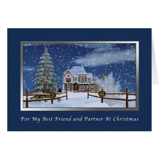 Christmas, Life Partner, Snowy Winter Scene Card
