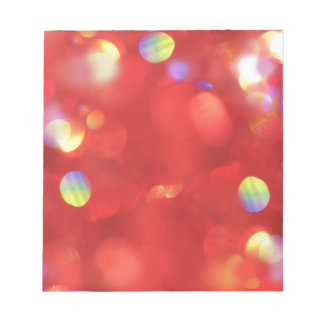 Christmas Light Bokeh Notepad