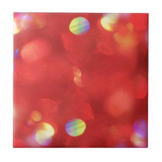 Christmas Light Bokeh Tile