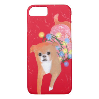 Christmas Light Dog iPhone 8/7 Case