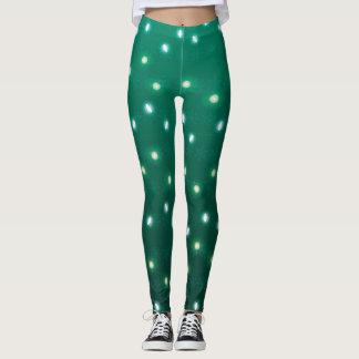 Christmas Light Green Leggings