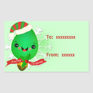 Christmas Light Kawaii Retro Gift Stickers