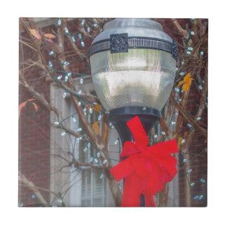 Christmas light post tile
