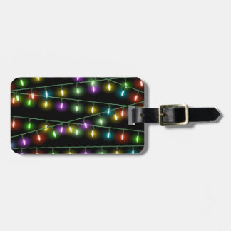 Christmas Light Strings Luggage Tag