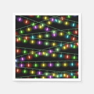 Christmas Light Strings Paper Napkin