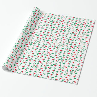 Christmas Light Stripes Wrapping Paper