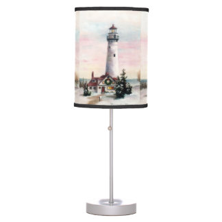 Christmas Lighthouse Table Lamp