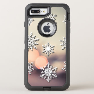 Christmas Lights and Snowflake OtterBox Defender iPhone 8 Plus/7 Plus Case