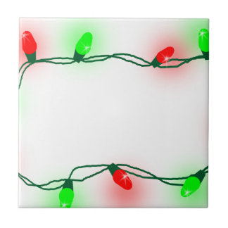 Christmas Lights Ceramic Tile