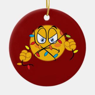 Christmas Lights Emoji Ornament