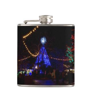 Christmas Lights Galore Hip Flask