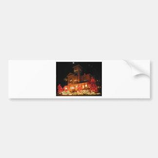 Christmas Lights House Bumper Sticker