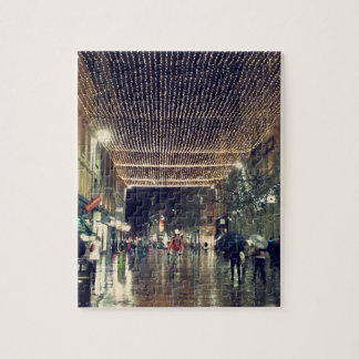 Christmas Lights in Glasgow, Scotland Jigsaw Puzzle