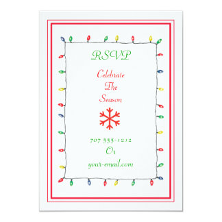 Christmas Lights Invitation & RSVP P