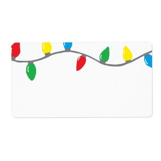 """""""Christmas Lights"""" Label"""