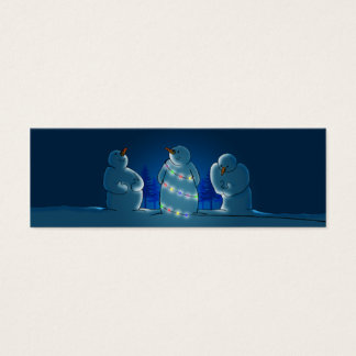 Christmas Lights Note or Gift Mini Business Card