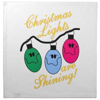 Christmas Lights Printed Napkins