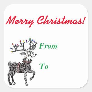 Christmas Lights Reindeer Stickers