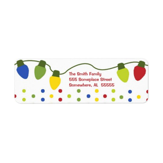 Christmas Lights Return Address Labels