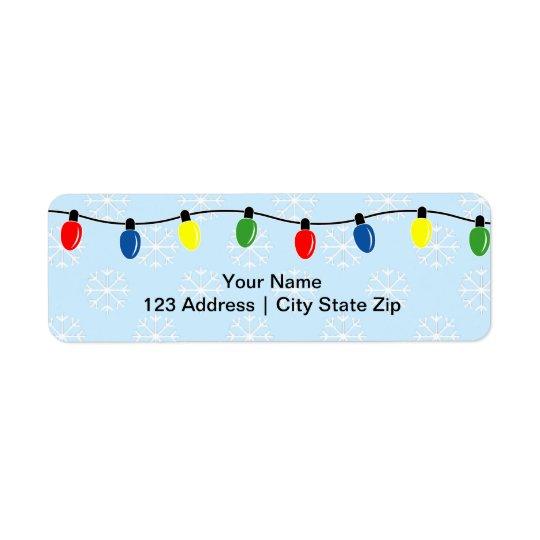 Christmas lights return address labels