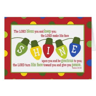 Christmas Lights Scripture Verse Christmas Card