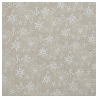 Christmas Little Snowflakes Collage Fabric