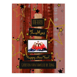 Christmas - lively photograph card postcard