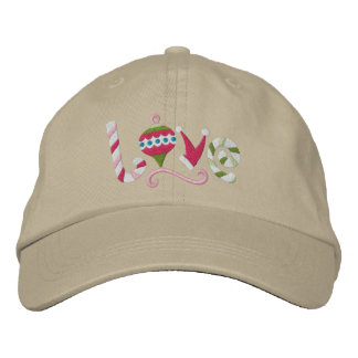 Christmas Love Embroidered Hat