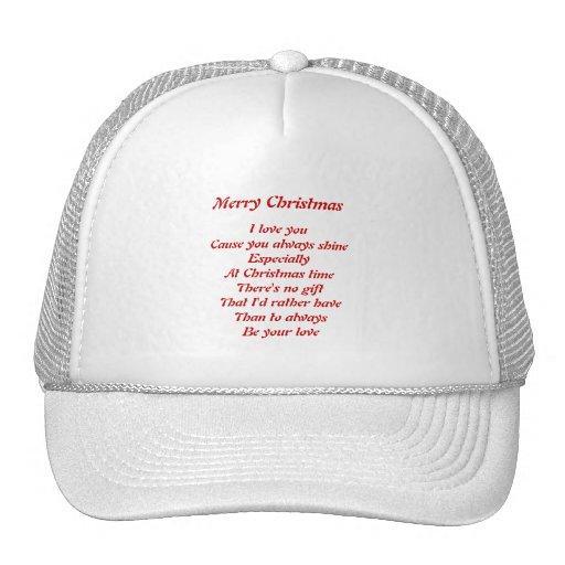 Christmas love trucker hats