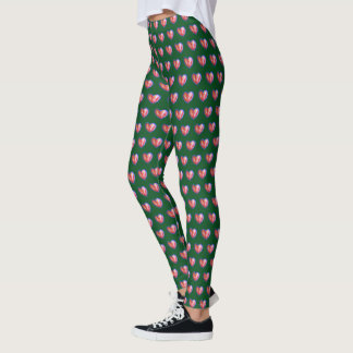 Christmas Love Hearts Art Holiday Custom Leggings