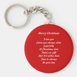 Christmas love basic round button keychain