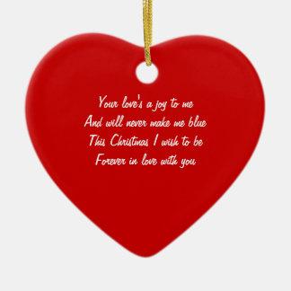 Christmas love ornaments